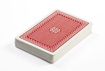 cartes de poker en carton